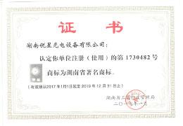 湖南省**商标证书