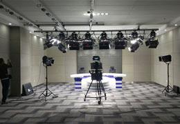 达茂电视台演播室