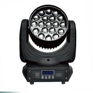 19颗 LED调焦摇头染色灯